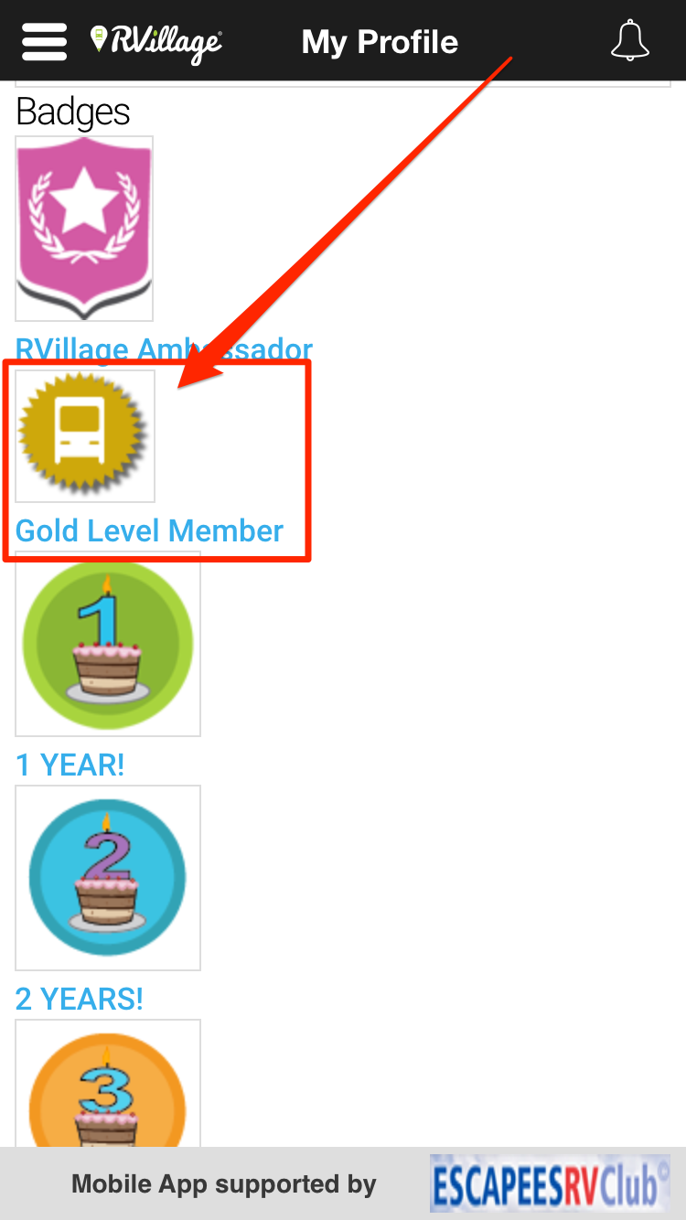 How To Find Other Gold Members - App – RVillage How To Guide