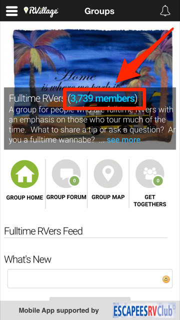 Finding And Adding Friends In Groups - App – RVillage How To Guide